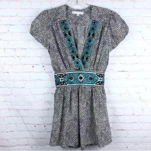 Corey Lynn Calter Silk Embroidered Blouse